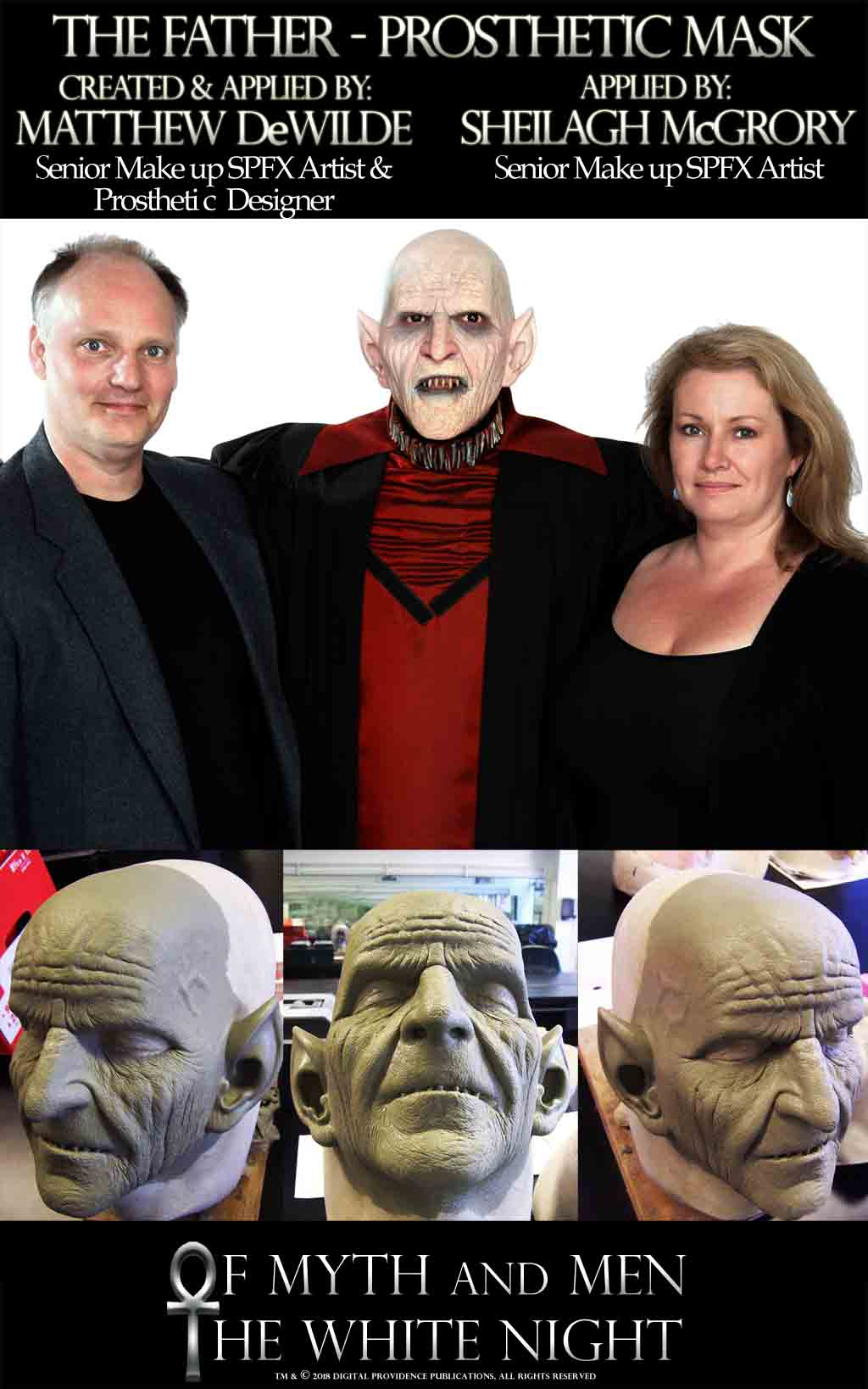 The Father of the Nosferatu prosthetic mask by SFX makeup artist Matthew DeWilde